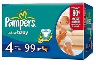 Pampers Active Baby Maxi купить - 1