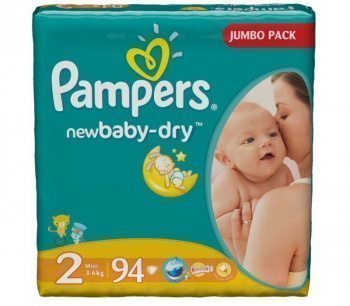 Джамбо New Baby Pampers подгузники mini (3-6 кг) 94 шт